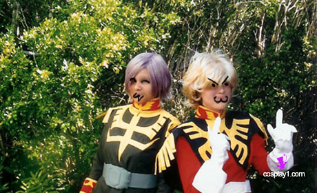 Char Aznable dan Garma Zabi Cosplay Costume Photo Client