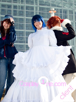 Agito wedding dres Cosplay costume Photo Client