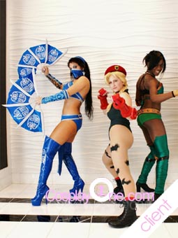 Mortal Kombat Kitana Cosplay Costume Photo Client